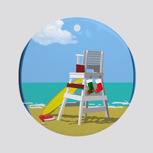 Lifeguard Chair for Christmas Ornament (Round)