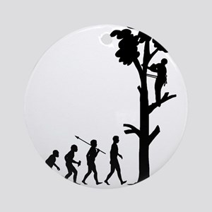 Tree-Trimmer Round Ornament
