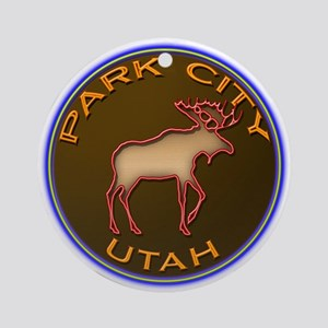 Park City Moose Designs Ornament (Round)