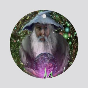 merlin the magician art illustration Ornament (Rou