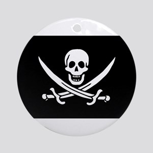 Pirate Round Ornament- Calico Jack Rackham Flag