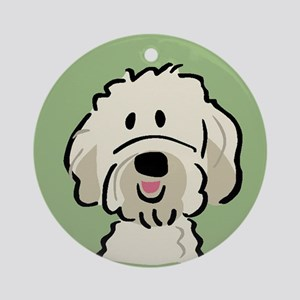 Goldendoodle Round Ornament