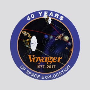 Voyager At 40! Round Ornament