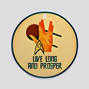 Love Long and Prosper Round Ornament