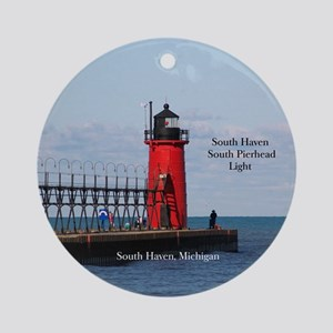 South Haven Pierhead Light Round Ornament