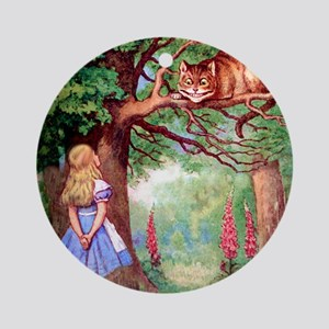 ALICE & THE CHESHIRE CAT Ornament (Round)