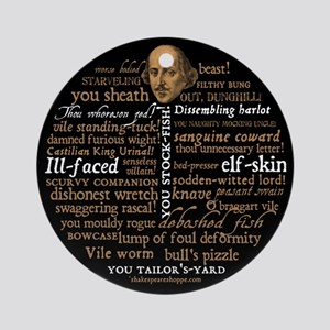 Shakespeare Insults Ornament (Round)