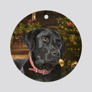 Holiday Black Lab Ornament