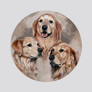 Golden Retrievers by Dawn Secord Ornament (Round)
