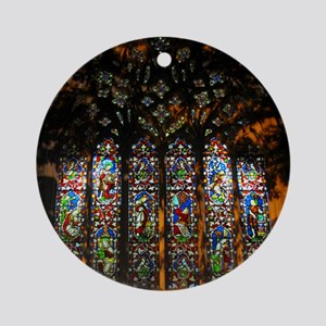 Stained Glass Window Christ ( Ornament (Round)