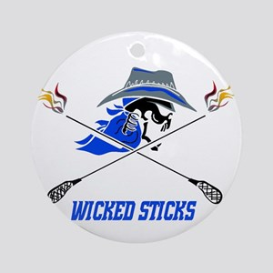Wicked Sticks Ornament (Round)