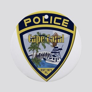 Cape Coral Police Ornament (Round)