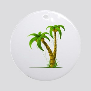 Palm Tree Plant Ornament (Round)