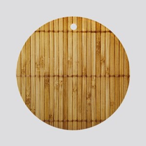 Bamboo Round Ornament