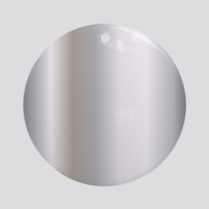 Metallic Silver Round Ornament