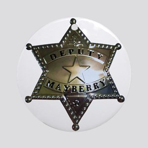 Mayberry Deputy Badge Ornament (Round)