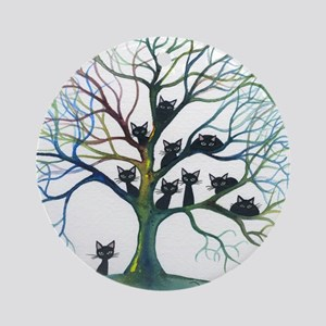 tree stray cats culpeper bigger Round Ornament