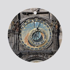 astronomical clock Round Ornament
