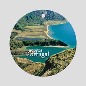 Lagoa do Fogo Round Ornament