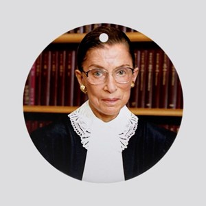ART Coaster Ruth Bader Ginsburg Round Ornament