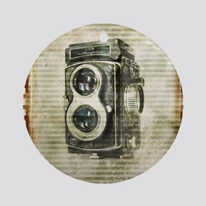 photographer retro camera Round Ornament