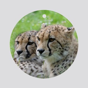 Cheetah009 Round Ornament