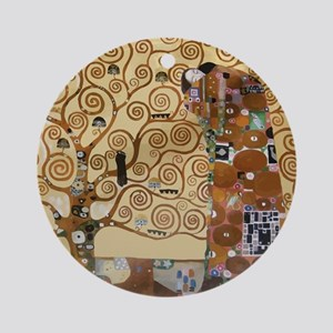 Gustav Klimt Tree Of Life Round Ornament