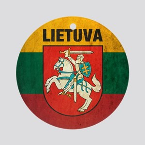 Lithuania Round Ornament