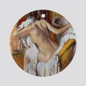 Edgar Degas After The Bath Round Ornament
