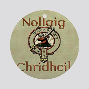 Scots Gaelic Merry Christmas Round Ornament