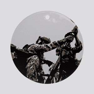Ranger Mortar Team Round Ornament