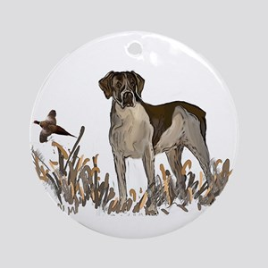 german shorthair and pheasant Ornament (Round)