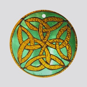 Irish knot and hand rosary 009 Round Ornament
