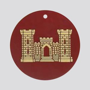 Army Engineer Ornament (Round)