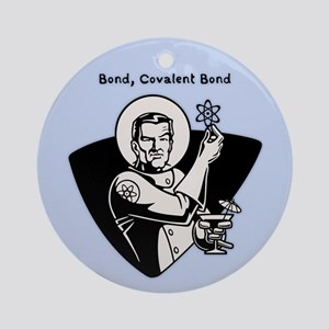 Bond, Covalent Bond Round Ornament