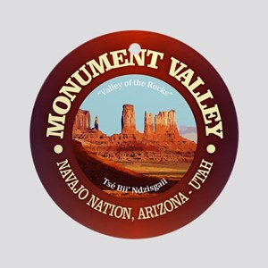 Monument Valley Round Ornament