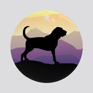 Bloodhound Purple Mountain Ornament (Round)