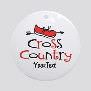 Customize Cross Country Shoe © Round Ornament