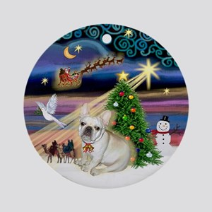 Christmas Magic French Bulldog 1 Ornament (Round)
