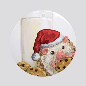 Christmas Cookie Hog Round Ornament