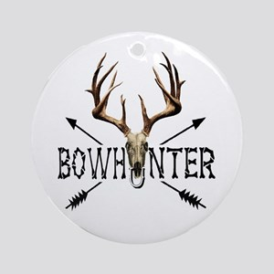 deer bow hunter Round Ornament