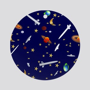 Space Flight Pattern Ornament (Round)
