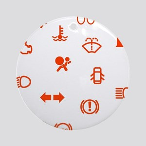 Vehicle Dash Warning Symbols Round Ornament