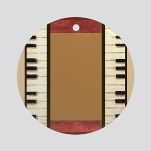 Piano Keys Music Bone Ivory Ornament (Round)