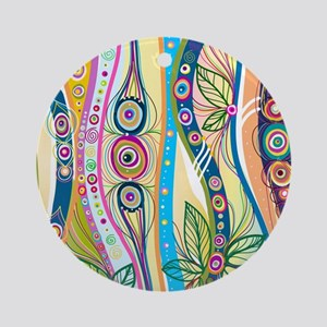 Colorful Flourish Round Ornament