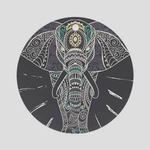 Indian Elephant Round Ornament