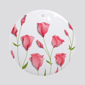 Pretty Flowers Round Ornament