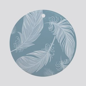 Beautiful Feathers Round Ornament