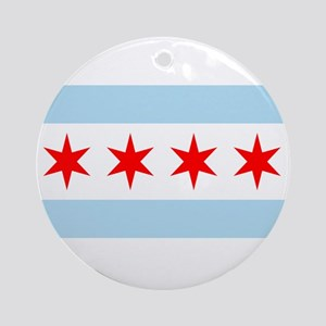 Chicago Flag Ornament (Round)