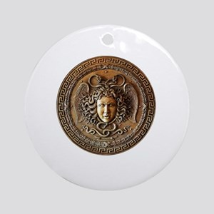 Medusa Greek mythology art Round Ornament